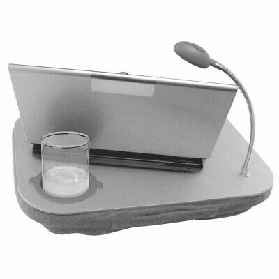 Laptop Cushion Tray With LED Light Easy Reading Table Cup Holder Work Station • 9.29£