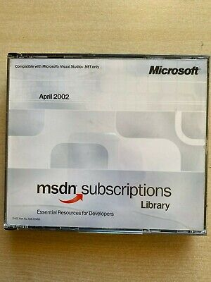 Microsoft Msdn Subscriptions Library - April 2002. Windows. Used • 4£