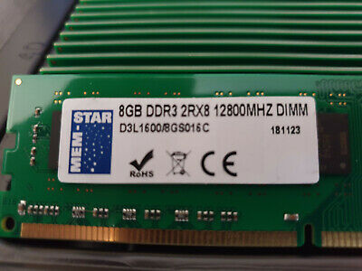 New Desktop Dimm Memory Ram - Ddr3 2rx8 12800mhz - 240pin - 8gb Modules Only • 18£