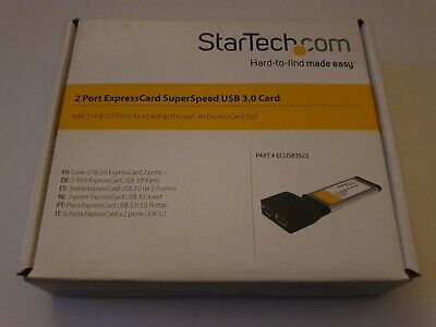 StarTech.com ECUSB3S22 2 Port ExpressCard SuperSpeed USB 3.0 With UASP Support • 30.40£