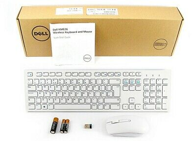 Dell Wireless UK QWERTY Keyboard And Mouse - KM636 (White) • 36.99£