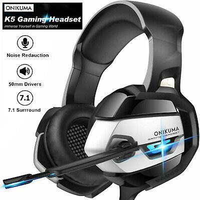 3.5mm LED Gaming Headset MIC Headphones For PC SW Laptop Xbox PS4 One X Slim • 13.99£