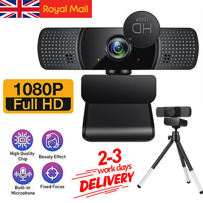 1080P Full HD Webcam USB Auto Web Camera With Microphone For PC Desktop Laptop • 12.99£