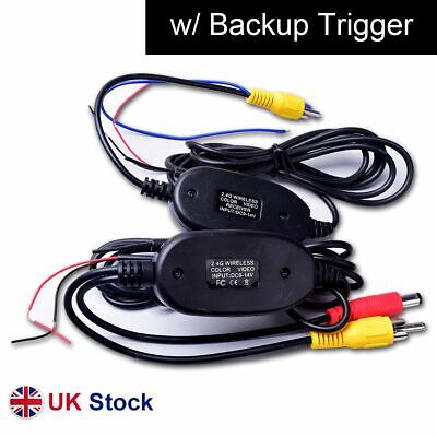 Wireless Video Cable W/ Backup Trigger Wire Tx & Rx For RCA Rear View Camera Kit • 14.99£