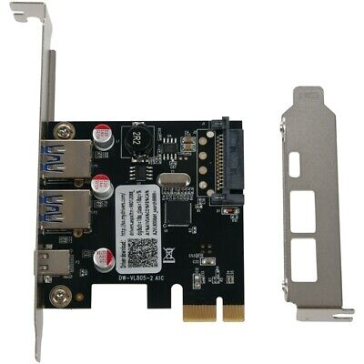 Usb 3.1 Type C Pcie Expansion Card Pci-E To 1 Type C And 2 Type A 3.0 Usb A J3Q6 • 8.99£