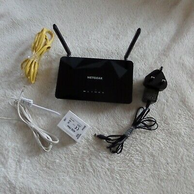 Netgear D1500 N300 Wifi DSL Modem Router (used ... Excellent Condition) • 18.99£