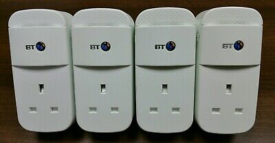 4 X BT Mini Connectors V2 VERSION 2 1000Mbps 1GB Powerline Adapters Homeplugs  • 58.75£