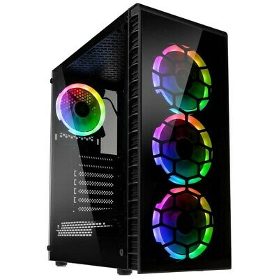 Kolink Observatory Lite Mid Tower Gaming Case - Black USB 3.0 • 55.17£