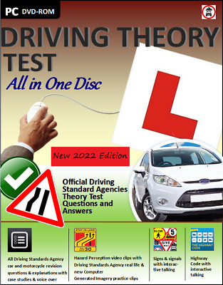 Driving Theory Test All In 1 Disc For 2020 2021 & Hazard Perception CD DVD ROM • 3.99£