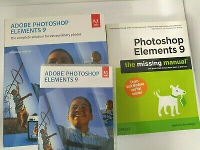 Adobe Photoshop Elements 9 Software And Book - BUC • 20£