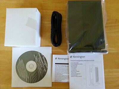 Brand New Kensington Sd120 Universal Docking Station Ethernet Usb • 9.99£