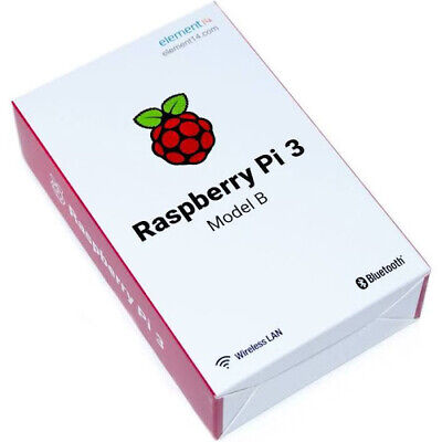 Raspberry Pi 3 Model B Board, Quad Core 1.2GHz 64bit CPU, 1GB Ram, Wi-Fi, Blueto • 24.99£