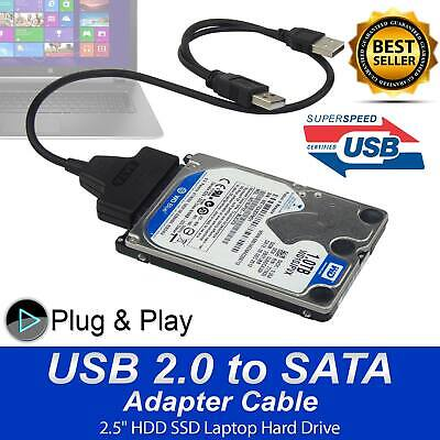 2.5  2.0 USB To 22P SATA Cable Serial ATA HDD/SSD Adapter For Laptop Hard Drive • 2.99£