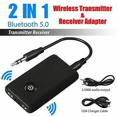 Bluetooth Wireless Audio Receiver Stereo Music AUX RCA Adapter Speaker Stereo UK • 6.95£