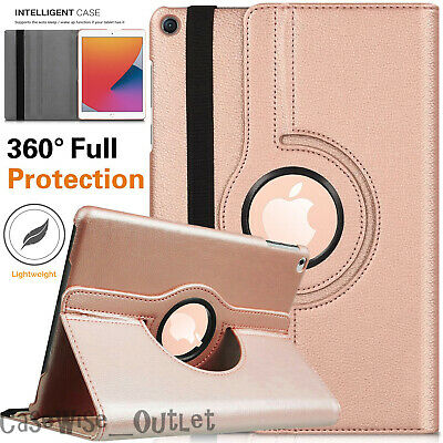 For Apple IPad 10.2  8th Generation 2020 360 Rotating Leather Smart Case Cover • 7.96£