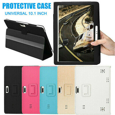 UK Universal 10.1  Leather Case Fits Android Tablet Cover Stand Flip Case Cover • 4.93£