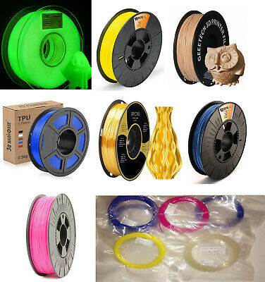 Filament Samples(12m) 1.75 PLA, Wood PLA, TPU, Fluorescent PLA • 3.49£