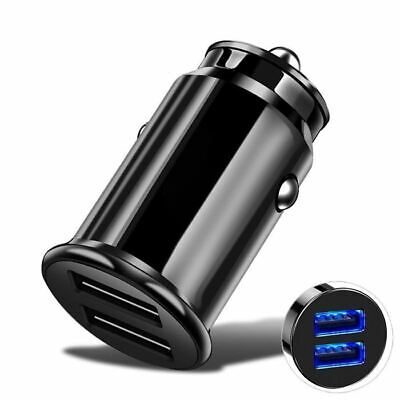 Car Charger Fast Charging Mini Small USB Dual 2 Port 4.8a For Universal • 2.49£