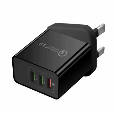 USB Plug Fast Charger Multi Quick Charging 3.0 Wall Charge UK 3-Port Adapters • 5.19£