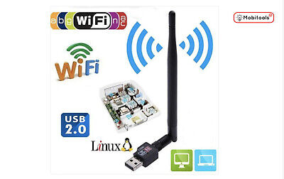 WiFi Dongle/Adapter 600 Mbps 2.40 Ghz USB Wireless 802.11 For Windows/Mac- UK • 6.18£