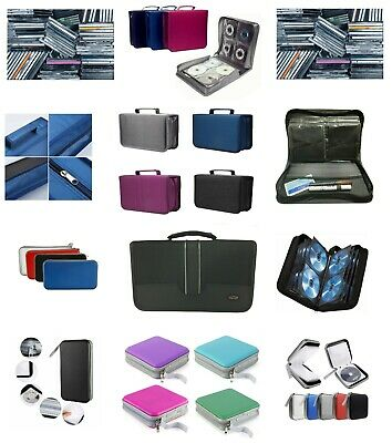 CD DVD Carry Case Disc Storage Holder CD Sleeve Wallet Holds 40 80 128 256 CD's • 3.95£