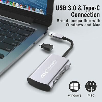 4K HD 1080P HDMI Video Capture Card USB 3.0 60fps Mic Game Record Live Streaming • 35.88£