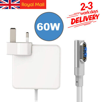 60W Magnetic Power Adapter Charger For Apple MacBook Air Magsafe1 L-Tip 11&13 • 17.99£