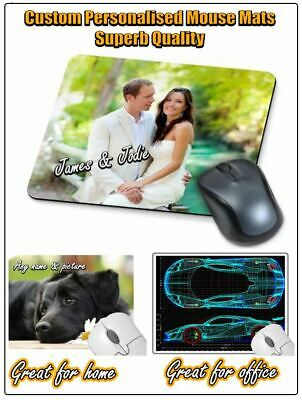 Superb Quality Custom Personalised Computer Mouse Mat / Mats,  ⭐⭐⭐⭐ • 2.99£