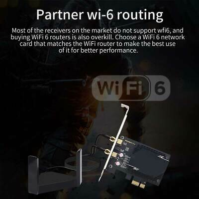 Wireless Network Card Antenna 3000M WiFi6 Pcie Signal Dual Frequency Gaming UK • 7.97£