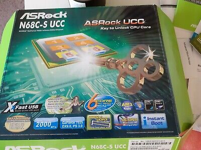 Asrock N68C-S UCC. Might Be Good For Parts. • 4.99£