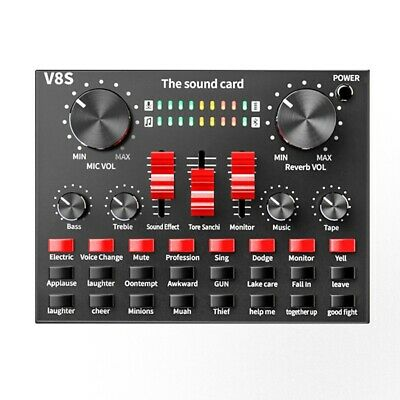 Bluetooth Professional Live Streaming Sound Card USB Audio Interface Mixer  R7A3 • 22.99£