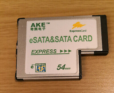 AKE ESata & Sata ExpressCard 54mm For Laptop • 14.95£