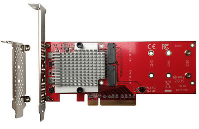 Lycom DT-130 Dual PCIe NVMe M.2 SSD Carrier Adapter • 123£