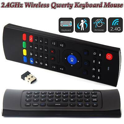 Superview 2.4GHz Wireless Fly Air Remote Qwerty Keyboard For Android Tv Boxes UK • 8.34£