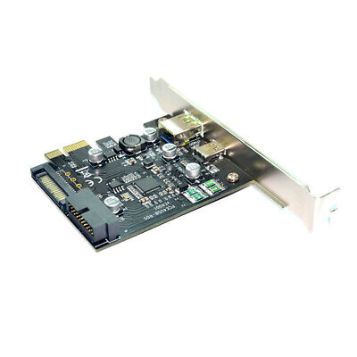 PCI-E To USB3.1 Add On Computer Mini Accessories Expansion Card Type C 19PIN • 16.49£