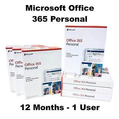 Microsoft Office 365 Personal 1 User 12 Months Licence Key Code PC Mac IOS 2019  • 39.99£