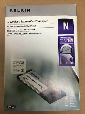 New Belkin N Wireless ExpressCard Adapter (F5D8073uk) • 6.90£