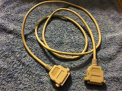 Serial Cable 25 Pin Male To 25 Pin Male  Cable Lead 2m Length • 2.50£