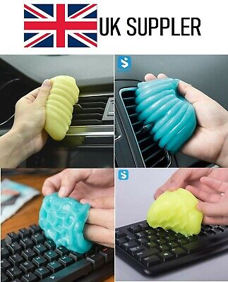 ✅🎯Universal Soft Gum Gel Car Keyboard Home PC Duster Dirt Sticky Cleaner🎯✅ • 2.98£
