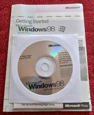 Microsoft Windows 98 Second Edition New And Sealed • 12.50£