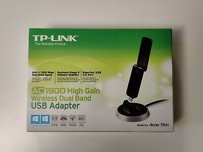 TP-LINK AC 1900 Archer T9UH 600 + 1300 Mbps Dual Band Wi-Fi USB 3.0 Adapter • 5£