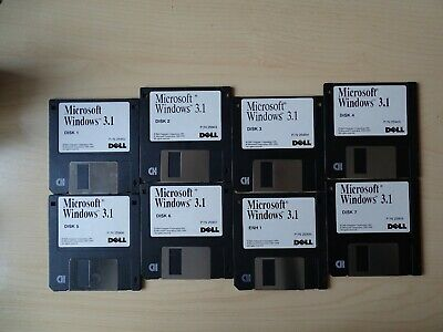 Microsoft Windows 3.1 On 3.5  Floppy Disks, Dell • 5.50£