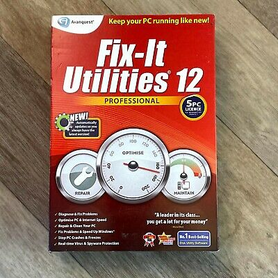 Fix-It Utilities 12 Professional, Keep Your PC Running Well! Optimise,Repair • 8.95£