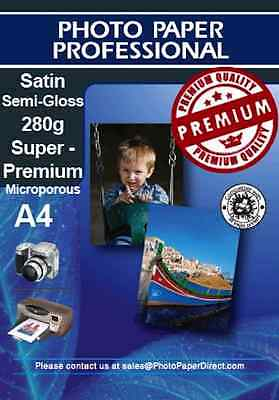 PPD A4 Satin Photo Paper Pearl Premium 280g X 10 Sheets • 6.99£