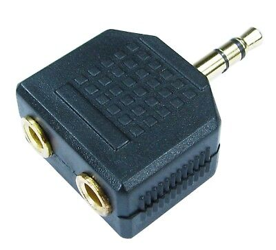 3.5mm Jack Plug Audio Cable Headphone Splitter Aux One To Two Outputs 1 Into 2 • 3£