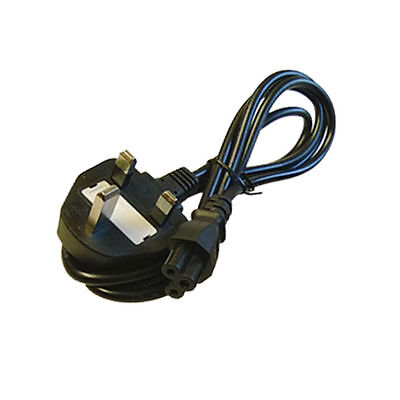 Laptop 3 Pins Clover Figured Mains Power Cable UK New M016 • 2.90£