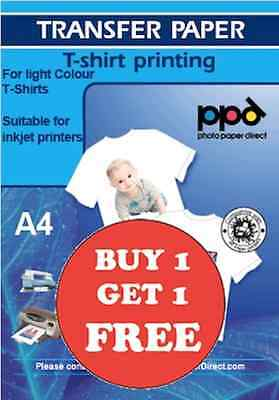 PPD T Shirt Transfer Paper Iron On A4 X 50 Buy 1 Get 1 FREE • 39.95£