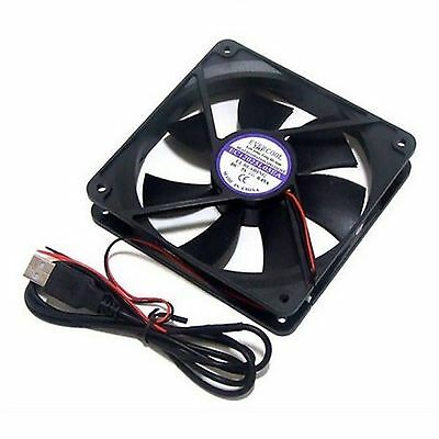 PC Computer Case System Cooling USB Fan Cooler 120mm 5V 5volt 120x120x25mm RoHS • 14.37£