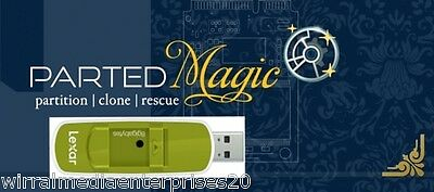 Parted Magic Partition Manager On 8Gb Branded Memory Stick Resize Partitions • 7.15£