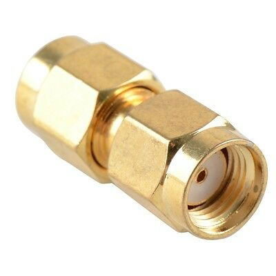 SMA Male Plug To R/P  Male Coupler Joiner Adapter Connector Convertor • 2.85£
